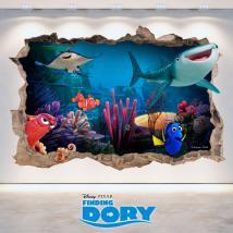 Vinyle Disney Dory vous cherchez trou mur 3D