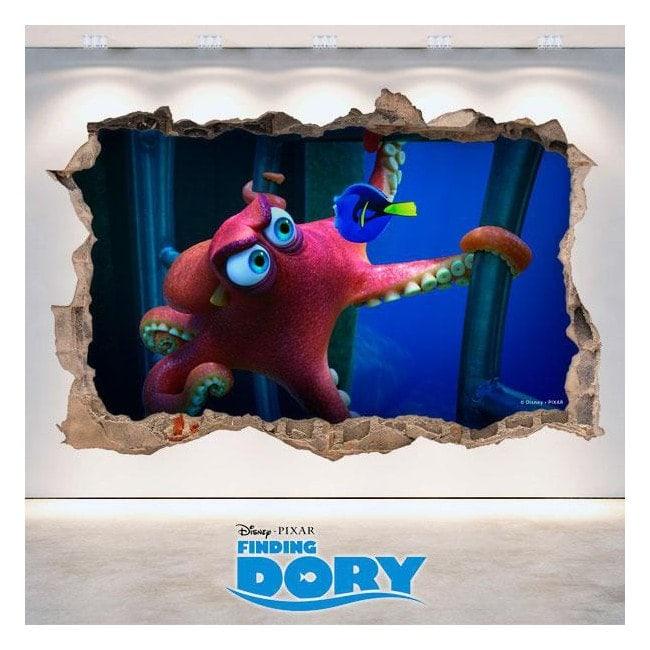 Vinyl 3D Disney Dory vous cherchez mur trou