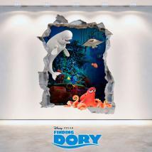Disney vinyle trou mur 3D à la recherche de Dory