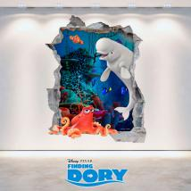 Mur de trou de vinyle 3D Disney vous cherchez Dory
