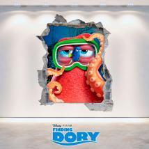 Vinyl mural Disney 3D Dory vous cherchez le trou
