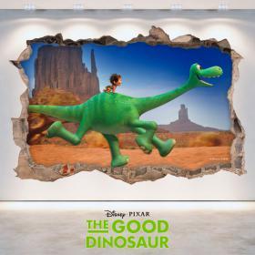 Mur de vinyle 3D Disney voyage Arlo trou
