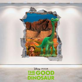 Vinyle Disney voyage Arlo trou mur 3D