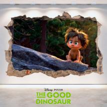 Mur de trou de vinyle 3D Disney The Dinosaur bon