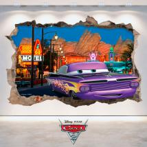 Trou de Disney Cars 2 vinyle mural 3D French 4772
