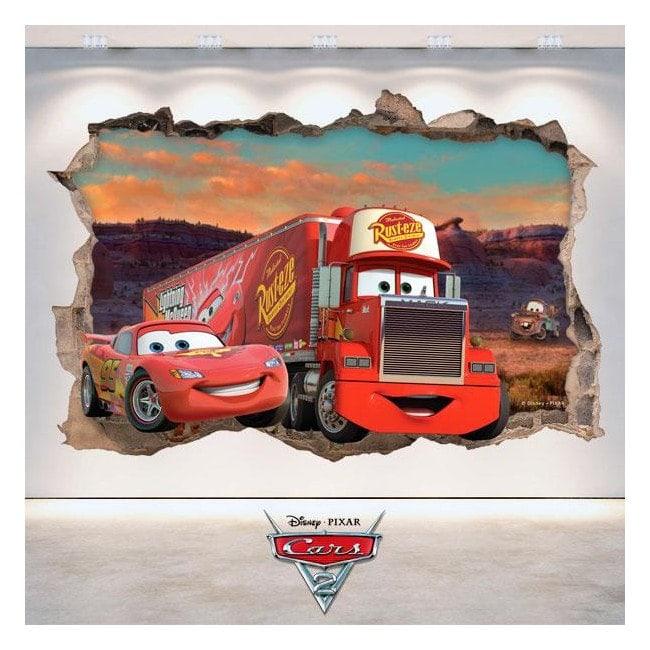 Autocollant 3D Disney Cars 2 French 4781