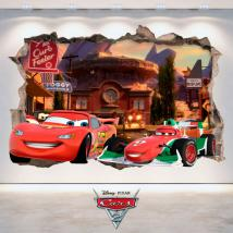 Mur de trou Stickers Disney 3D Cars 2