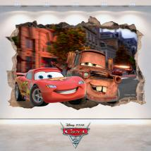 Mur de trou 3D adhésifs Disney Cars 2