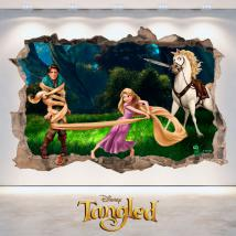 Tangled Disney vinyle trou 3D wall