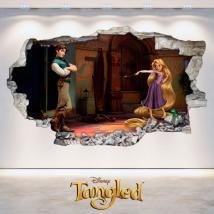 Autocollants 3D Disney Tangled emmêlé