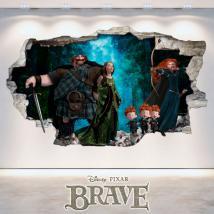 Le Brave Disney vinyle trou 3D wall