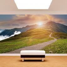 Peintures murales sunset mountains