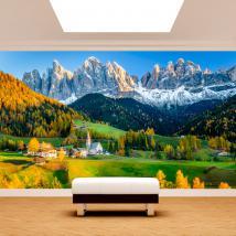 Fotomural montagnes Funes Italie