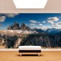 Montagnes de peintures murales de mur photo Alpes