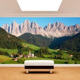 Photo de montagnes des Dolomites murales mur Italie