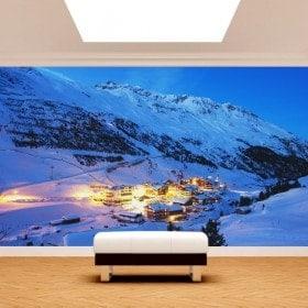 Montagnes de peintures murales mur photo Alpes Autriche