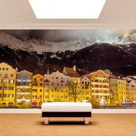 Photos murales Innsbruck Autriche de nuit