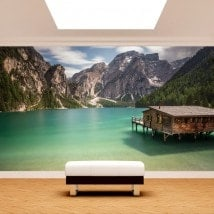 Peintures murales photo lac Braies Italie