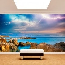 Photo mur murales rayons dans la mer