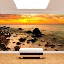 Fotomural coucher de soleil sur la mer Baltique