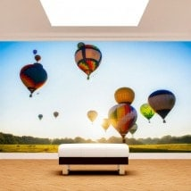 Photo mur murales ballons air chaud