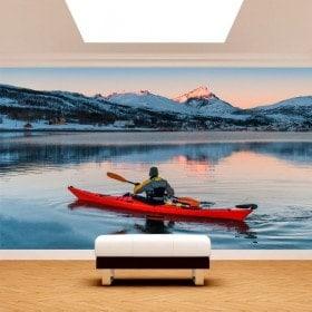 Fotomural Kayak sur le lac
