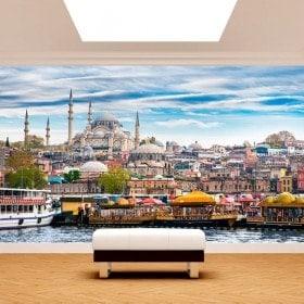 Villes de peintures murales mur photo Istanbul