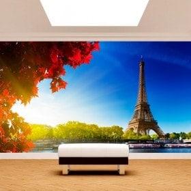 Peintures murales photo tour Eiffel Paris
