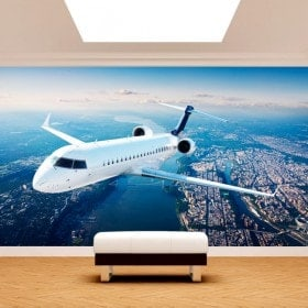 Fotomural Jet dans le ciel
