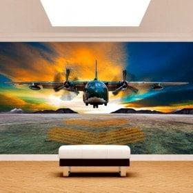 Peintures murales Photo avion atterrissage