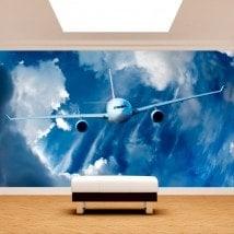 Photo mur murales avions dans le ciel