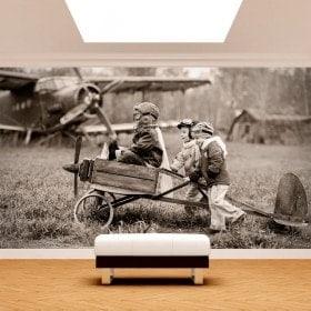 Fotomural enfants et avions