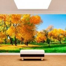 Photo mur murales arbre sur le terrain