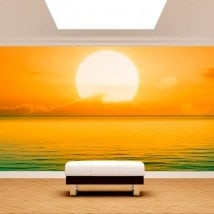 Photo mur murales coucher de soleil sur la mer French 4957