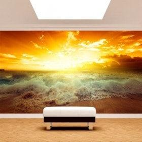 Fotomural soleil Sunset Beach