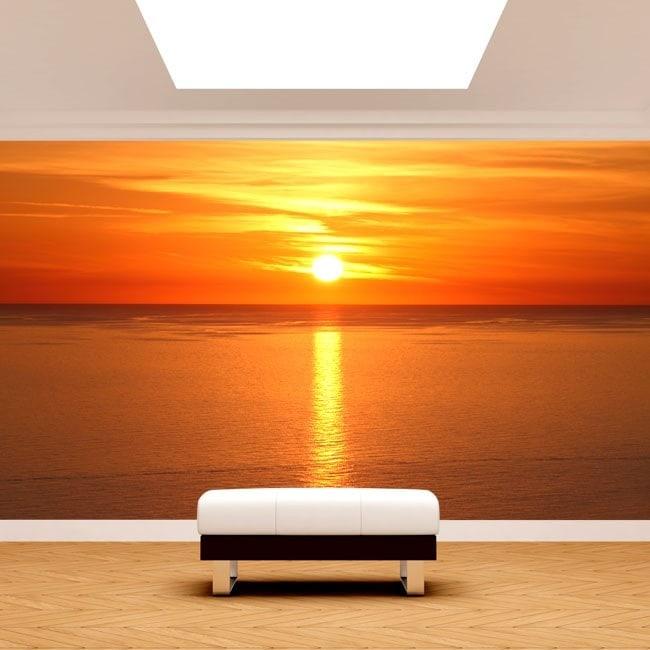 Mise en œuvre de Fotomural de soleil en mer