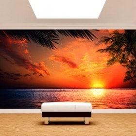 Photos murales soleil Sunset Beach