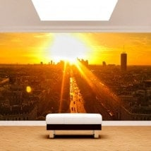 Photo Paris peintures murales pour le coucher du soleil