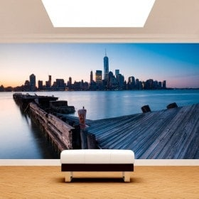 Bâtiments de peintures murales photo mural Manhattan