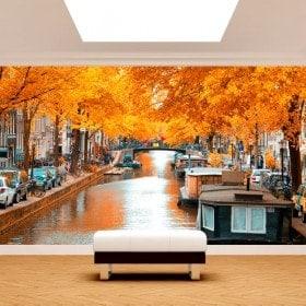 Photos murales Amsterdam à l'automne
