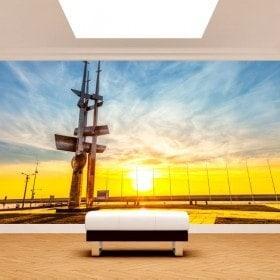 Photo de peintures murales Gdinia en Pologne pour le coucher du soleil