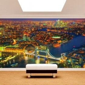 Nuit de photo mur murales Londres