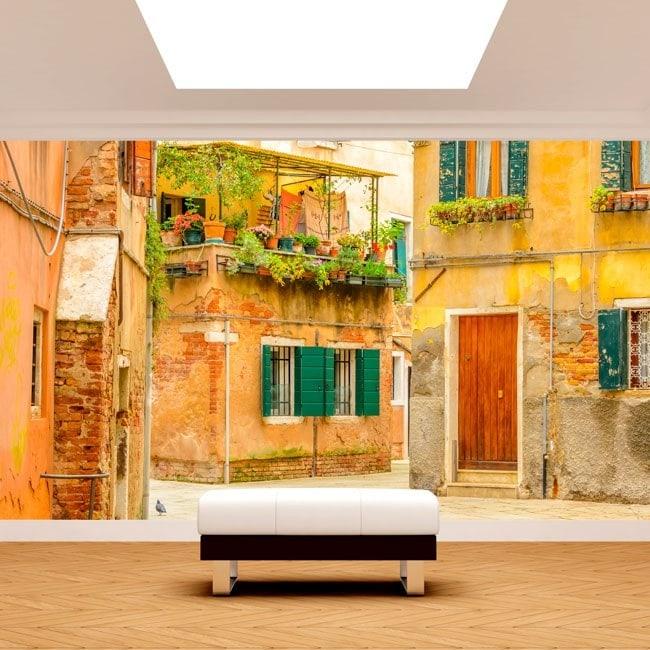 peintures murales photo rues de venise. Black Bedroom Furniture Sets. Home Design Ideas