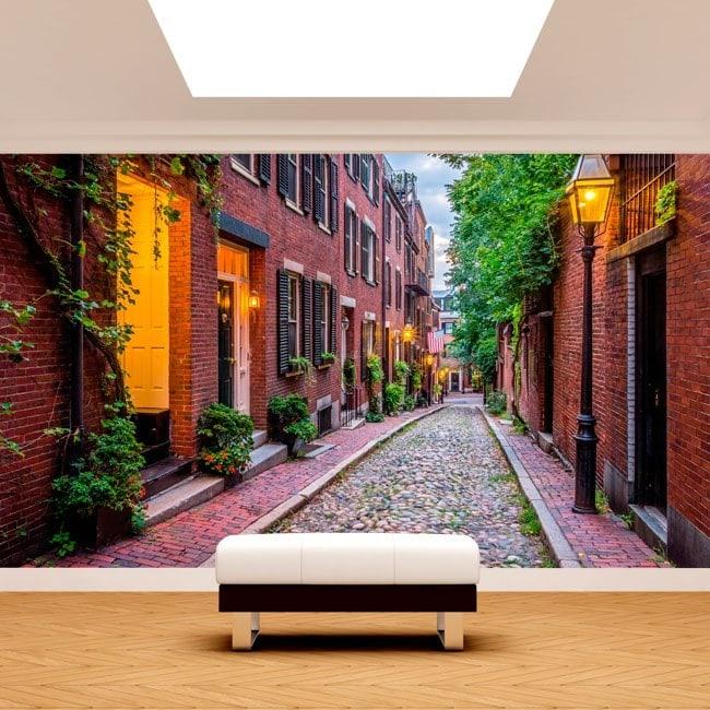 Peintures murales photo rues de boston for Peintures murales