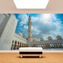 Mosquée de peintures murales de mur photo Sheikh Zayed