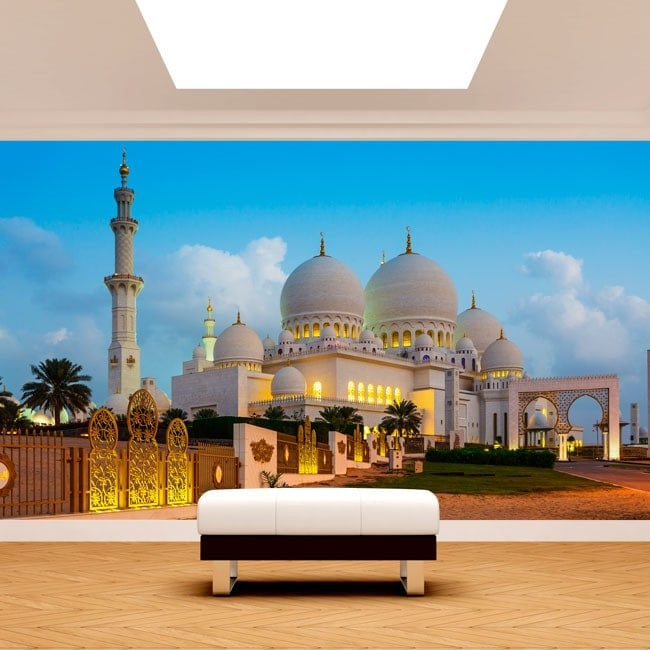 Photo mur murales vinyle mosquée Sheikh Zayed