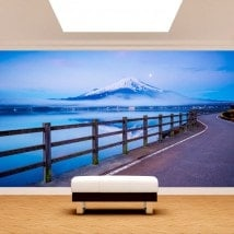 Chemin de peintures murales photo wall Mount Fuji