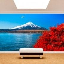 Peintures murales lac Kawaguchi Mt. Fuji Photo