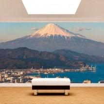 Ville de peintures murales mur photo Mont Fuji