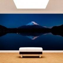 Peintures murales photo lac Kawaguchi et Mt.Fuji